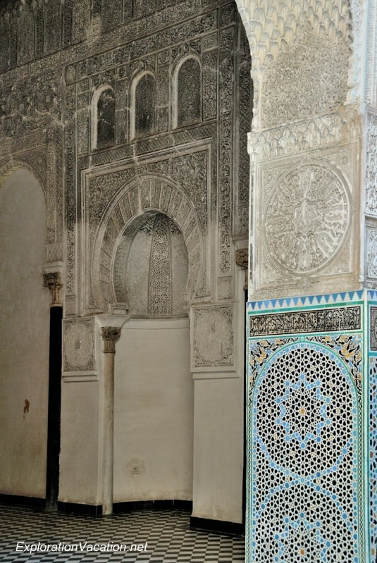 El-Attarine Medersa in Fès Morocco -20 - prayer hall DSC_1166