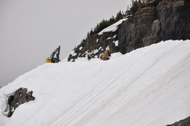 Glacier National Park - 14 clearing the big drift 6-13 14453382035_9ae84b38eb_b