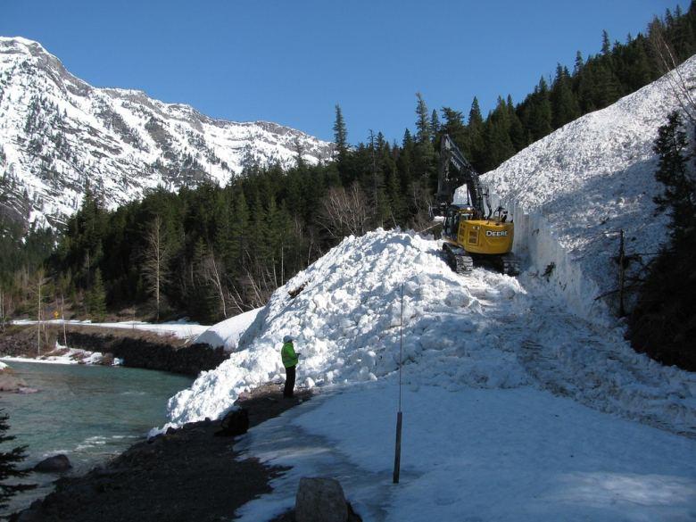 Glacier National Park - 2 rock slide 4-10 13784342044_e038c86446_b