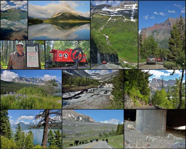 Collage - July 7 - Touring Glacier - ExplorationVacation