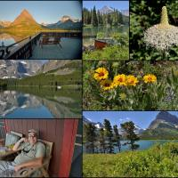 Glacier Park Swiftcurrent Lake collage