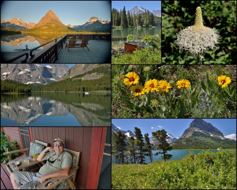 Collage - July 8 - Around Many Glaciers - ExplorationVacation