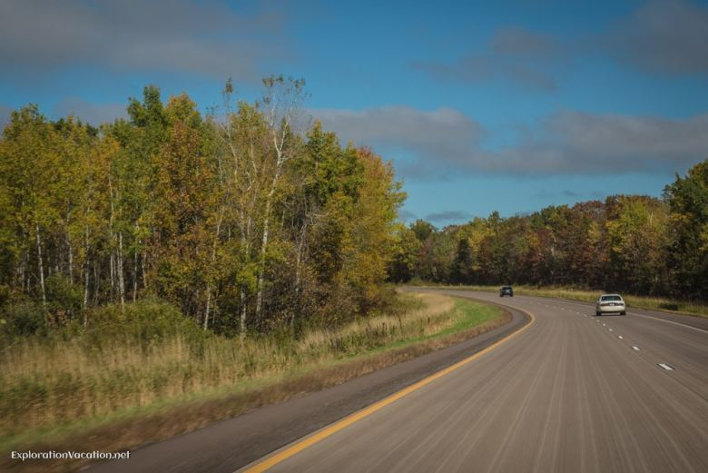 On the road headed north - ExplorationVacation.net