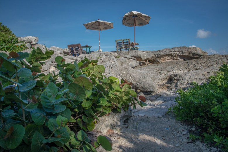 Lunch above the ocean in Tulum Mexico - ExplorationVacation.net