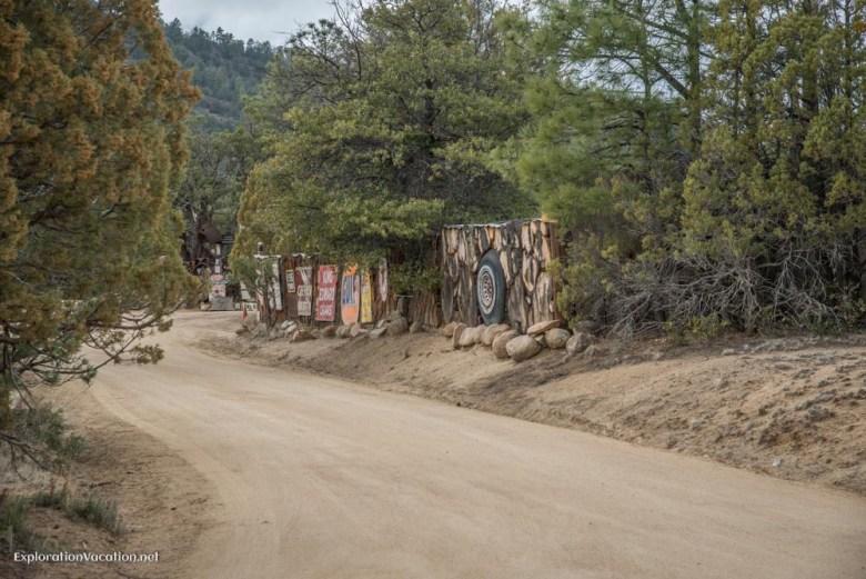 unusual fence in Pinos Altos New Mexico - ExplorationVacation.net