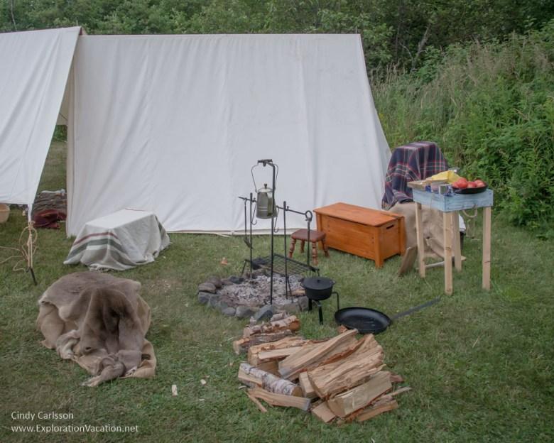 Voyageurs camp at Grand Portage Monument Minnesota