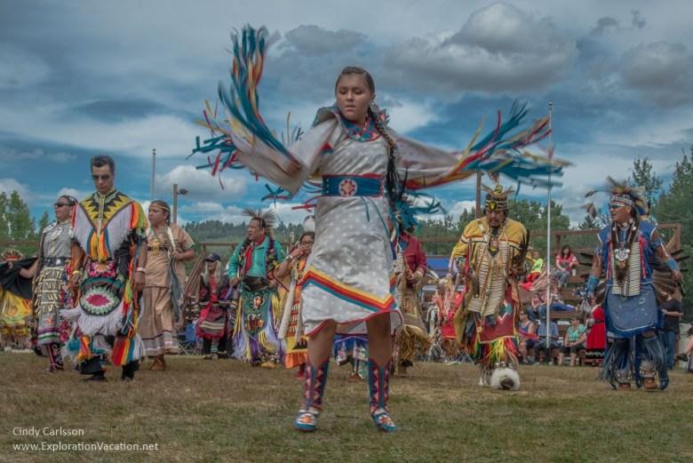 Shawl dance Grand Portage Powwow