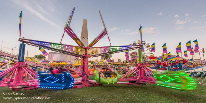 carnival rides at the Stearns County fair