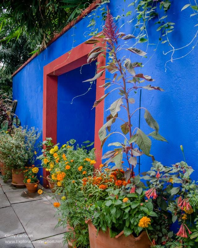 "Doorway ""Blue House"" garden New York Botanical Garden"
