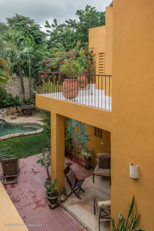 upper terrace - house tour in Merida