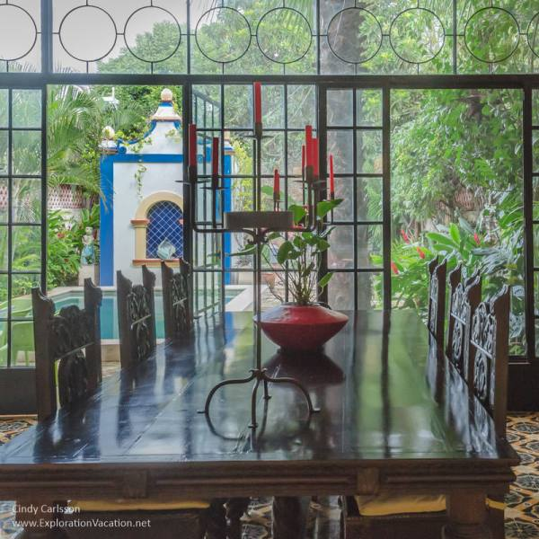 garden - House tour in Merida