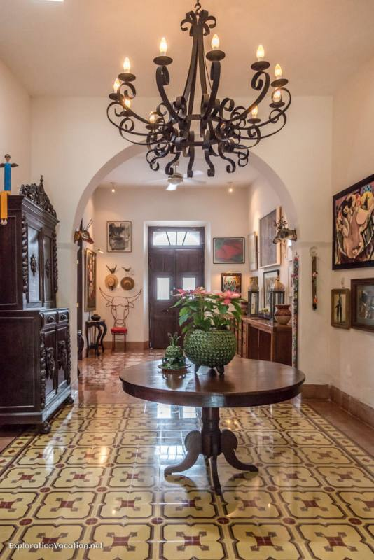 entryway on house tour in Merida