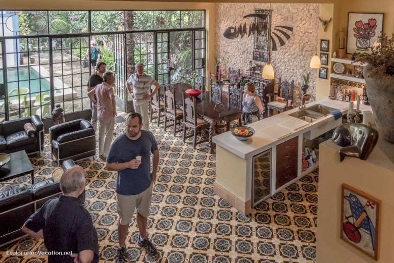 kitchen-dining-living area house tour in Merida