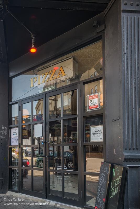 door to Artichoke pizza
