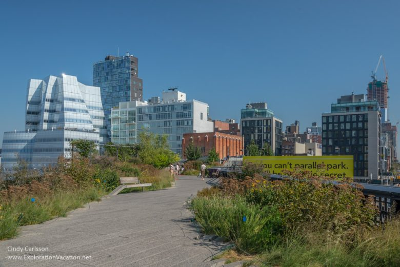 expanse with skyscrapers along the High Line