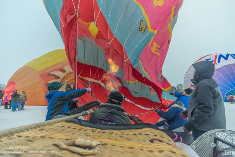 balloon with burner