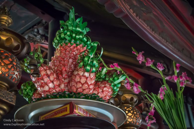 pineapple made of candies