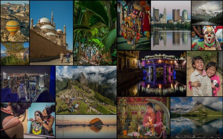 travel photography mosaic - ExplorationVacation