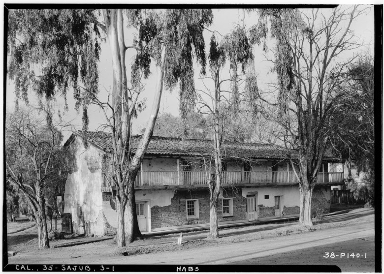 General Castro House in San Juan Bautista in 1934