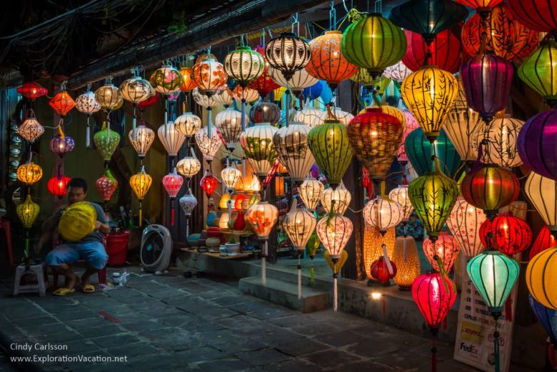lanterns for sale in Hoi An Vietnam - ExplorationVacation.net