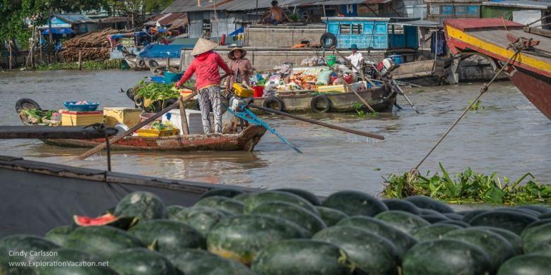 Cai Rang market Mekong Delta Vietnam - ExplorationVacation.net