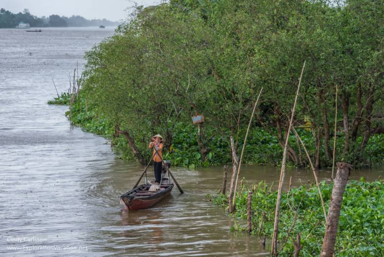 canoe Mekong Delta Vietnam - ExplorationVacation.net