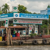 Gas station in the Mekong Delta Vietnam