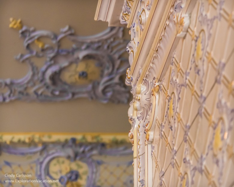 fireplace and ceiling details American Swedish Institute Minneapolis Minnnesota - ExplorationVacation.net