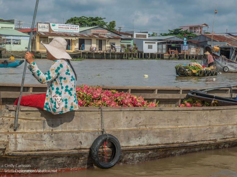 dragonfruit Cai Rang floating market Vietnam - ExplorationVacation.net