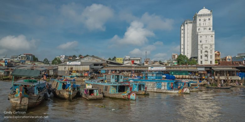 Cai Rang floating market Vietnam - ExplorationVacation.net