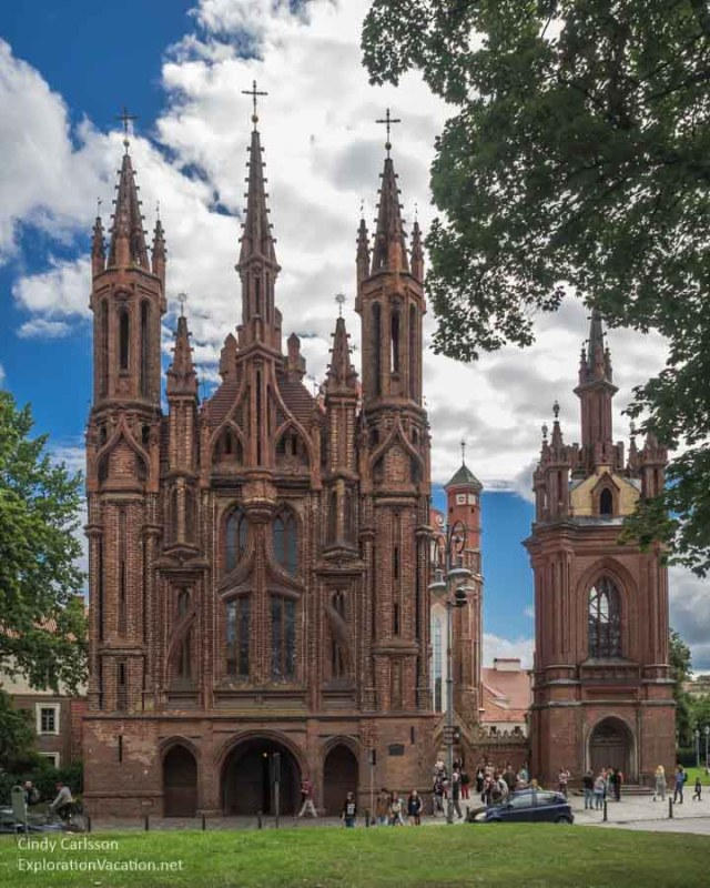 Gothic St Anne's Church Vilnius Lithuania - www.explorationvacationet