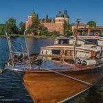 Classic boat at Gripsholm Castle in Mariefred Sweden - www.ExplorationVacation.net