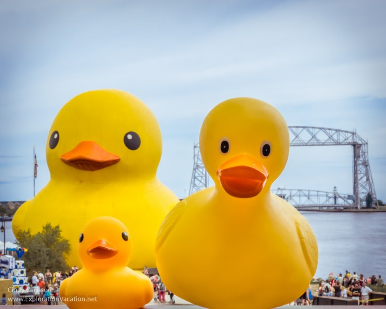 Duck at the Duluth Tall Ship Festival - www.ExplorationVacation.net