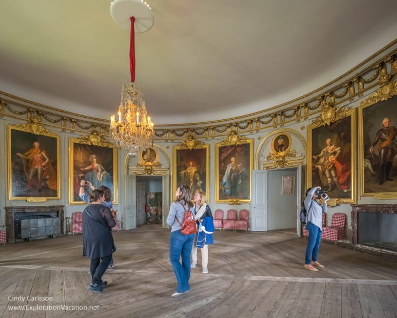 Round drawing room in Gripsholm Castle Mariefred Sweden - www.ExplorationVacation.net
