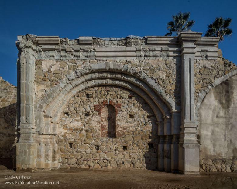 stone church ruins Mission San Juan Capistrano California - www.ExplorationVacation.net