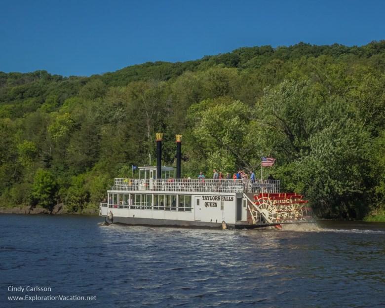 paddlewheel ship St Croix River cruise Minnesota - www.ExplorationVacation.net
