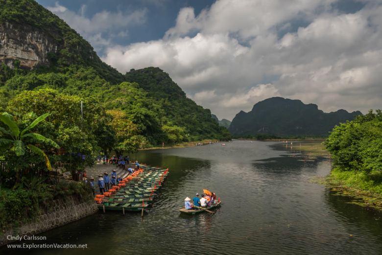 boat dock at Trang An Vietnam - www.ExplorationVacation.net