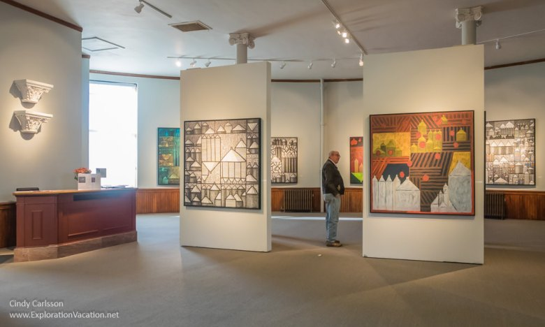 David Strom exhibit at the Mankato Carnegie Art Center - www.ExplorationVacation.net