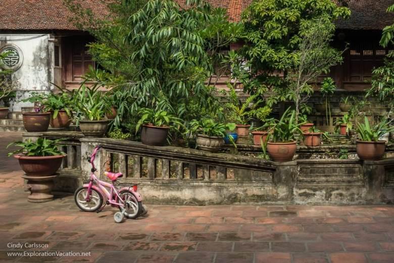 courtyard Mia Pagoda Duong Lam village Vietnam - www.ExplorationVacation.net