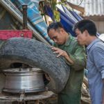 tire repair Northern Vietnam - ExplorationVacation