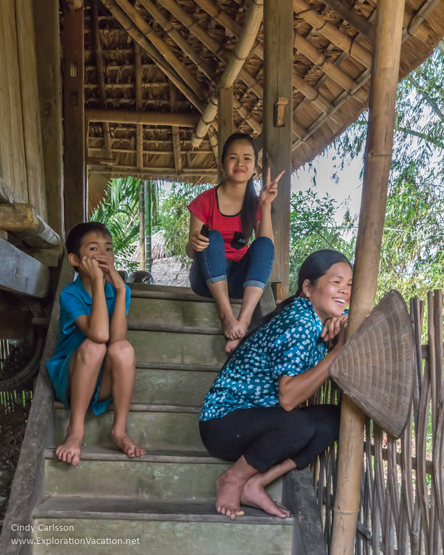 family in Me Village Northern Vietnam road trip - ExplorationVacation