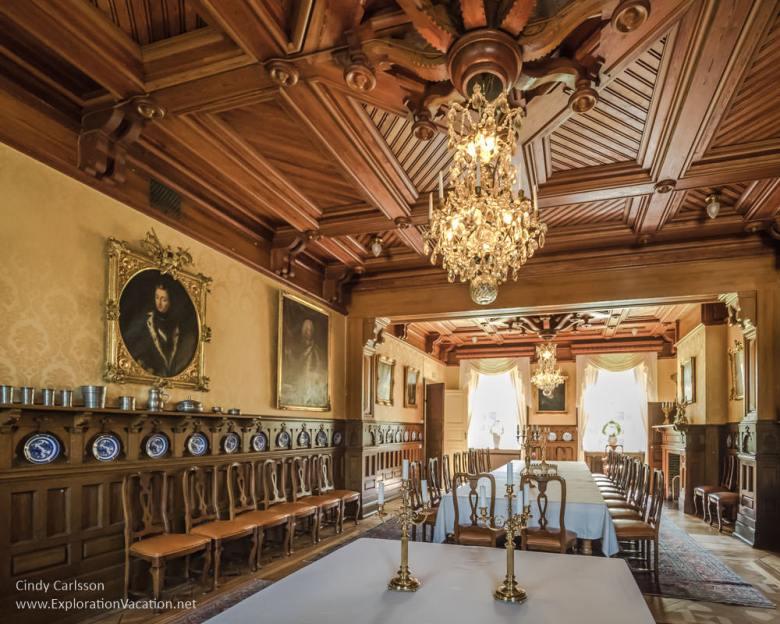 dining room Sparreholm Castle Sweden - www.ExplorationVacation.net