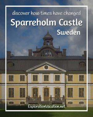 Painted view of Sparreholm Castle in Sweden's rural castle and manor country - ExplorationVacation #Sweden #VisitSweden #VisitSörmland #sponsoredtravel