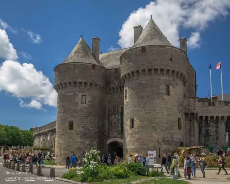 St Michel gate Guerande France Medieval Festival - www.ExplorationVacation.net
