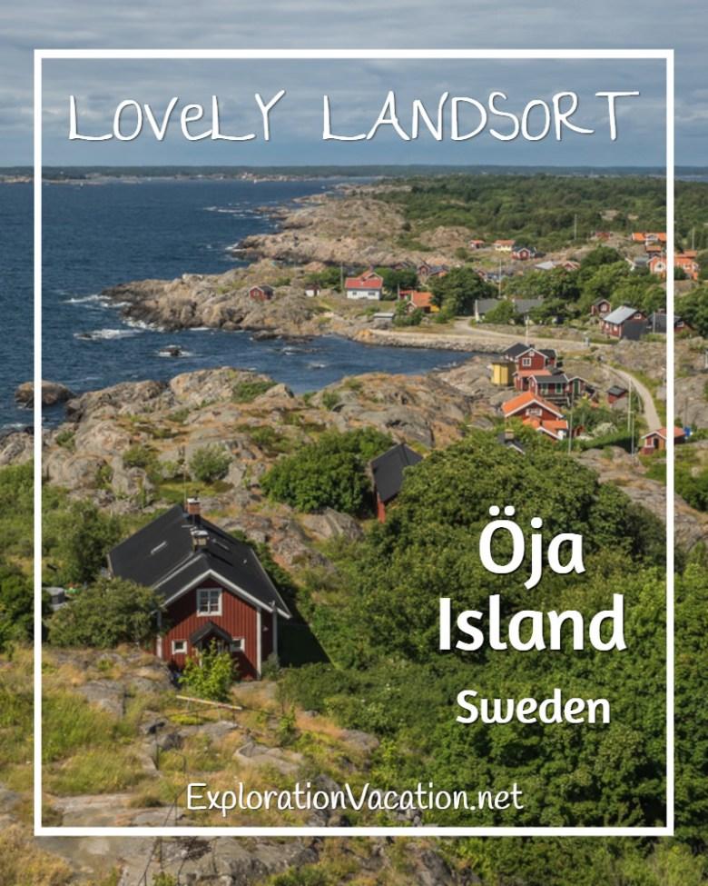 Lovely Oja Island from #Landsort #Lighthouse in Sweden's Stockholm Archipelago - ExplorationVacation #VisitSweden #landsort #bythesea
