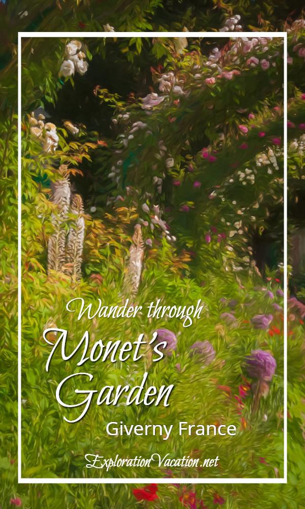 Flowers in Claude Monet's garden