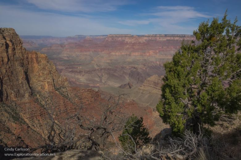 Scenic views from the Grand Canyon's south rim - www.ExplorationVacation.net