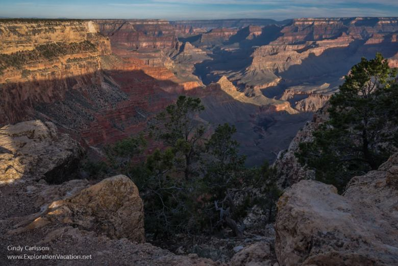 Scenic views from the Grand Canyon's south rim - The Abyss - www.ExplorationVacation.net
