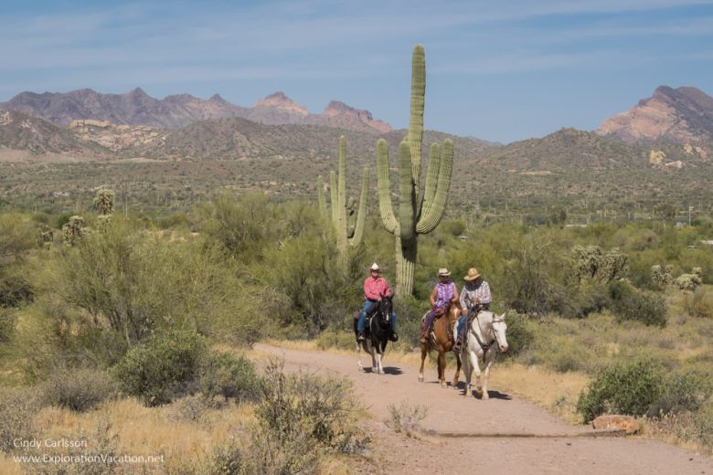 Horseback riding in Lost Dutchman State Park Arizona Apache Trail Historic Highway road trip - www.explorationvacation.net