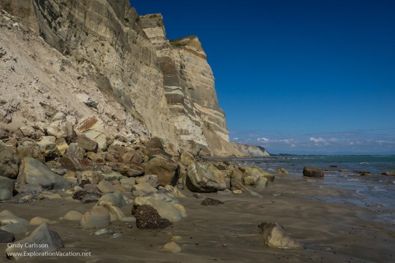cliffs at Cape Kidnappers Hawkes Bay New Zealand - www.explorationvacation.net